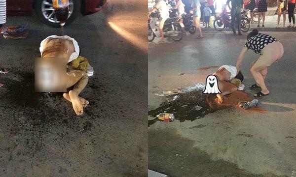 Cướp chồng lại ném mắm tôm vào vợ, bồ bị xử bằng combo nước mắm và ớt bột, co quắp giữa đường