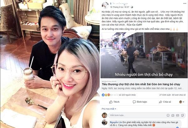 """Gay gắt """"trù ẻo"""" người ăn và bán thịt chó, Thảo Ngọc - em gái ca sĩ Quang Vinh khiến cộng đồng mạng dậy sóng tranh cãi"""