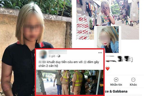 """Facebook cô gái 2k1 liều lĩnh tông gãy chân CSGT khi bị """" tuýt còi"""": Nhìn sang chảnh mà hành động """"kém sang"""" quá!"""