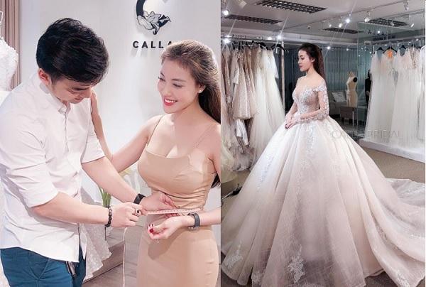 """""""Cậu bé Xeko"""" - Hà Duy dẫn vợ tương lai đi thử váy cưới trị giá cả trăm triệu, đến khi cô dâu mặc vào thì...đẹp """"rụng rời"""""""