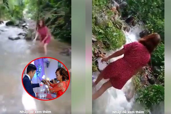 """Sau màn livestream """"mắng"""" cư dân mạng, cô dâu 62 tuổi cùng chồng 26 tuổi vui vẻ đùa giỡn bên bờ suối!"""