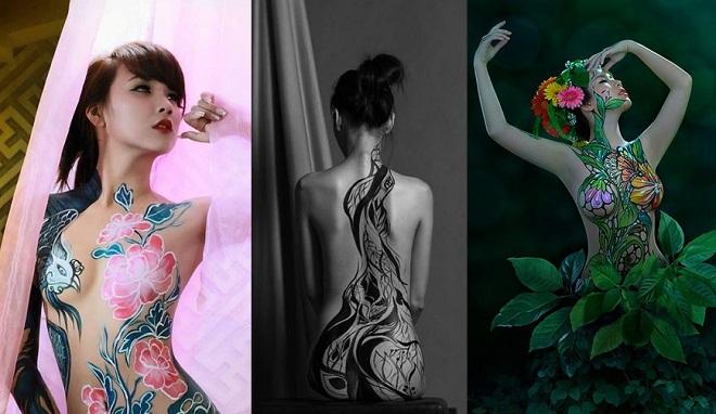 Chân dung 3 hot girl tạo dấu ấn đậm nét trong lĩnh vực nghệ thuật body painting