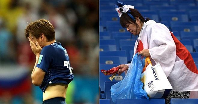 """Chia tay World Cup 2018, Nhật Bản vừa khóc vừa """"ngẩng cao đầu"""""""