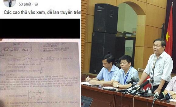 Hà Nội: Công an tạm giữ thầy giáo gửi 2 đề thi tuyển sinh lớp 10 ra ngoài phòng thi