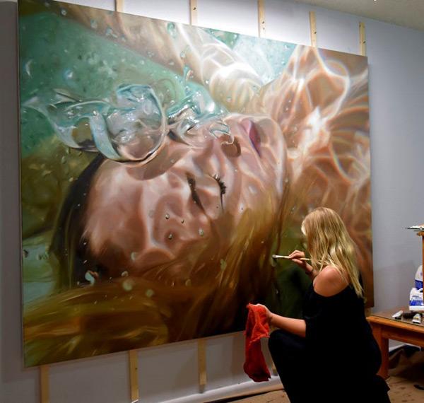Tác phẩm tranh siêu thực của nữ họa sĩ Reisha Perlmutter, sinh năm 1990, ở TP Naples, Mỹ. (Ảnh: Tiin.vn)