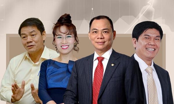 Khối tài sản siêu khủng của 4 đại gia Việt Nam lọt vào danh sách tỷ phú đô la của Forbes