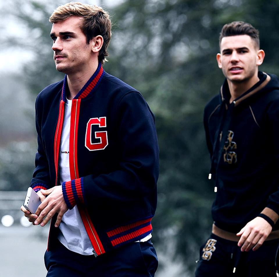 """Griezmann thần tượng """"nam thần"""" David Beckham nên dễ hiểu vì sao anh chàng luôn chăm chút vẻ bề ngoài của mình hệt như thần tượng."""