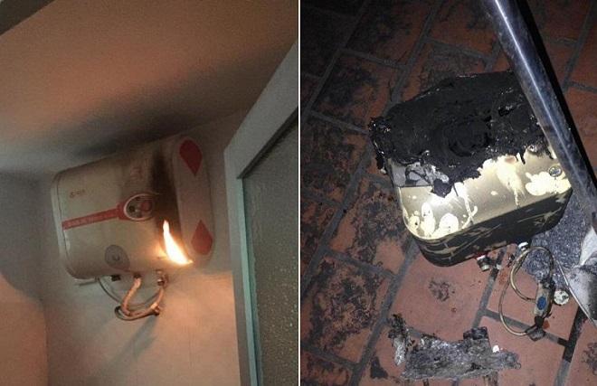 Liên tiếp xảy ra những vụ cháy bình nóng lạnh do không tắt sau khi sử dụng