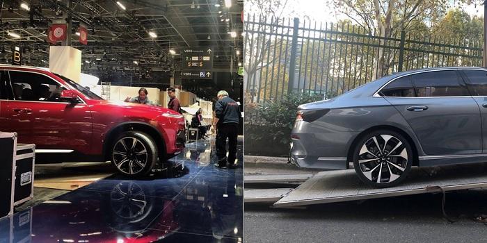 Lộ diện hình ảnh thực tế xe VinFast được vận chuyển đến Pháp để chuẩn bị ra mắt tại Paris Motor Show