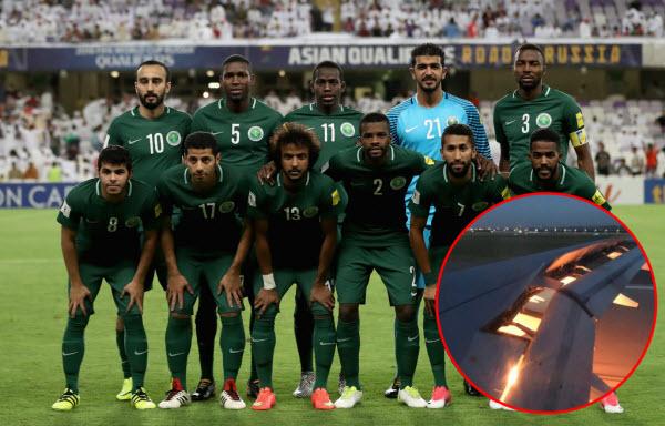Máy bay chở đội tuyển Ả Rập Xê-út đi đá World Cup bốc cháy trên bầu trời nước Nga