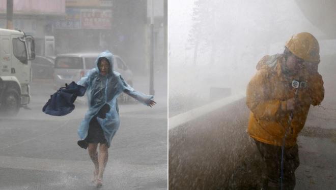 Những hình ảnh hung dữ nhất của siêu bão Mangkhut ở Hồng Kông, Trung Quốc
