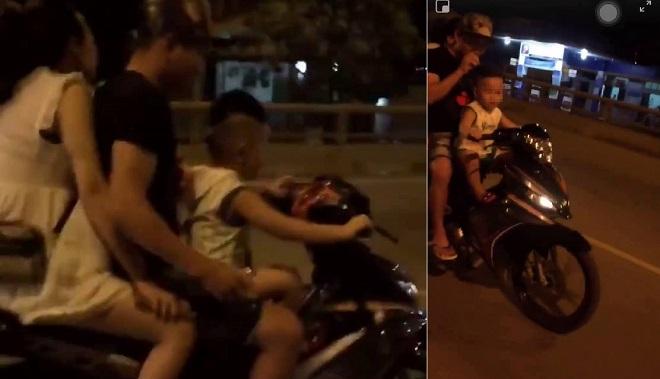 Phẫn nộ cặp vợ chồng cho bé trai 4 tuổi cầm lái xe máy, luật sư nhận định mức phạt gần chục triệu đồng
