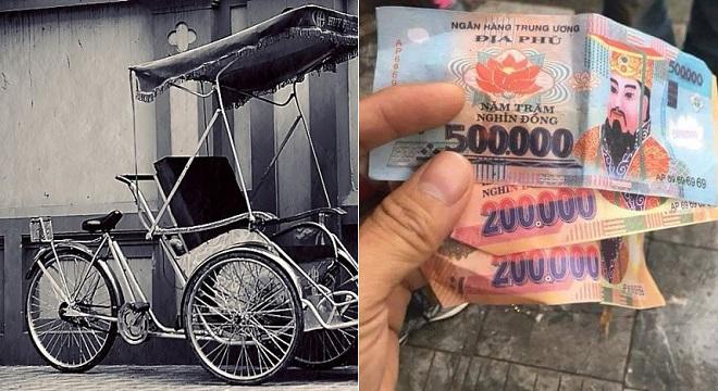 Tài xế xích lô nói không trả tiền âm phủ cho khách Tây, lấy giá 600.000 đồng/tiếng