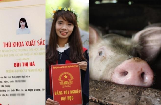 Tốt nghiệp thủ khoa đại học sư phạm, cử nhân về quê chăn lợn nuôi ước trở thành cô giáo