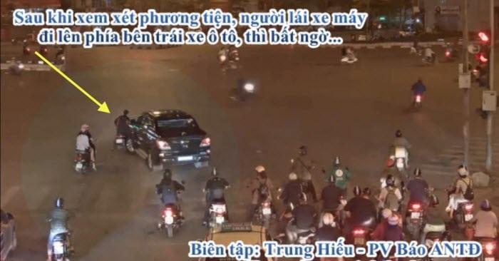 Vụ xe bán tải kéo lê người đi xe máy hàng trăm mét: Cố ý tông xe để trả đũa?