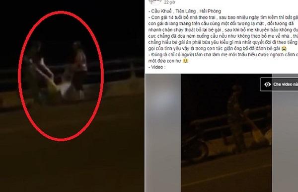 """Nữ sinh 14 tuổi bỏ nhà theo bạn trai quen trên mạng bị bố mẹ dọa ném xuống cầu và hành động """"hèn hạ"""" của chàng trai"""