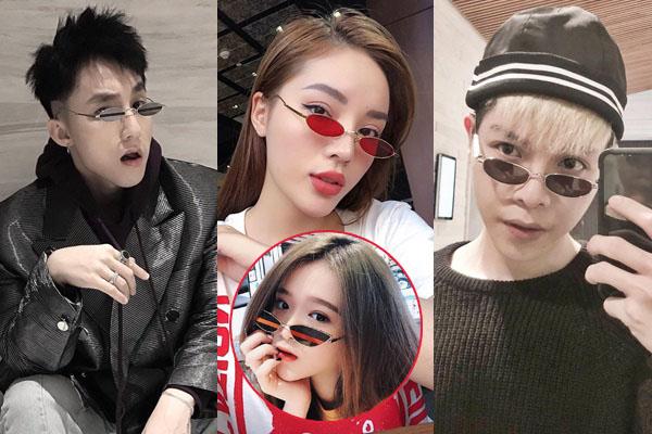 Học đòi trào lưu sao Việt diện kính tí hon, nhưng Linh Ka vừa đeo đã che mất nửa mặt