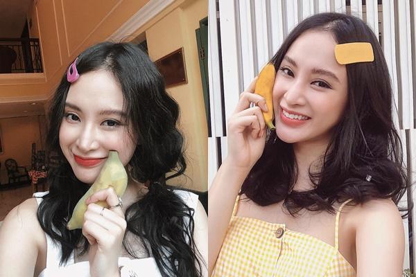 """Hết kẹp tóc thiếu nhi, giờ Angela Phương Trinh còn thích """"làm duyên"""" với...trái chuối"""