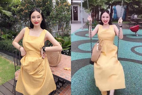 Đã diện váy xòe rộng còn chơi xích đu đẩy cao, Angela Phương Trinh suýt bị tốc cả váy lộ hàng