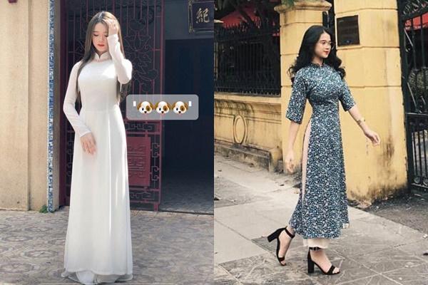 """Lâu lắm mới thấy Linh Ka diện áo dài trắng đậm chất nữ sinh nhưng lại độn ngực """"ngồn ngộn"""" đến tận cổ"""
