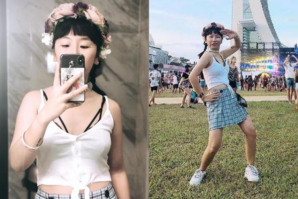 """Thời trang đi quẩy sexy, trễ nải chẳng kém hotgirl, nhưng Trang Hý """"kiêu"""" không thèm khoe ngực"""