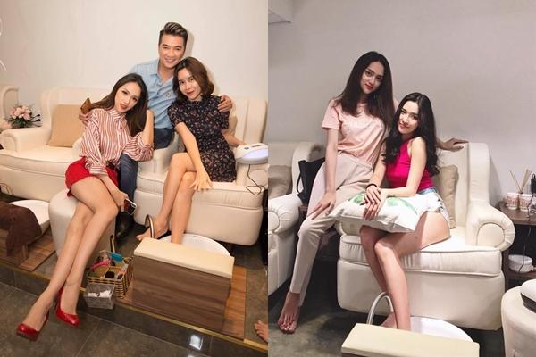 Đột nhập tiệm nail sang chảnh của Hoa hậu Hương Giang, Mr. Đàm, Bích Phương cũng check-in vội
