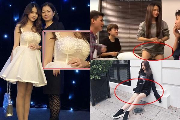 """Diện style quần ngắn """"tận bẹn"""" cho chân dài, Linh Ka """"kém duyên"""" vì dáng ngồi để lộ vùng nhạy cảm vô số lần"""