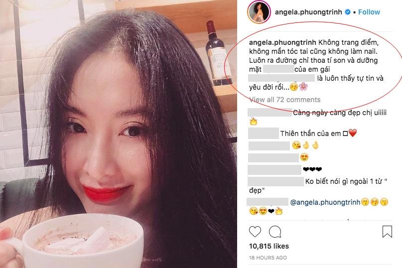 """Khẳng định """"mặt mộc"""" chỉ thoa chút son, nhưng Angela Phương Trinh bị """"bóc phốt"""" như đắp nguyên mấy nghìn lớp phấn lên mặt"""