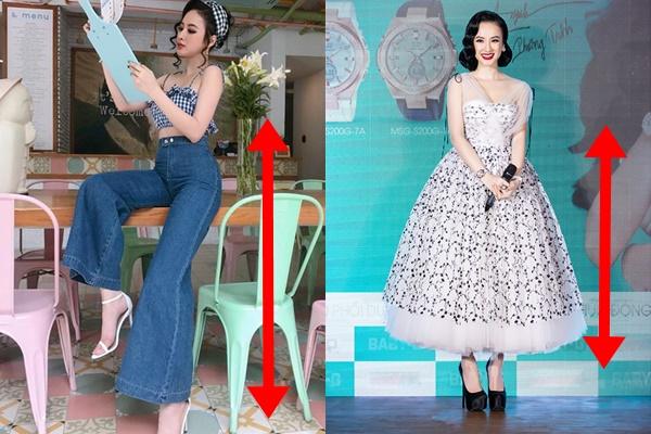 """Chuyên gia sống ảo như Angela Phương Trinh cũng có lúc mắc lỗi trang phục, tự biến mình thành """"nấm lùn"""" chân nửa mét thế này"""