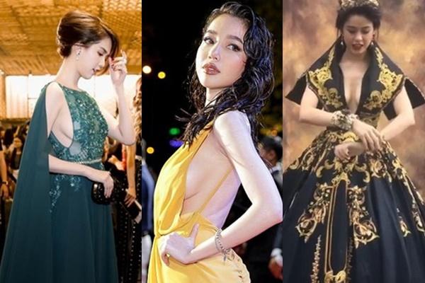 Mặc áo xẻ ngực sâu, Ngọc Trinh, Elly Trần lộ vòng 1 'xập xệ' cũng chưa thảm bằng Trương Quỳnh Anh