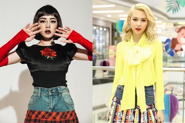 """Cái kết nào cho Phí Phương Anh khi """"cóp"""" Chi Pu mặc style váy tụt cạp?"""