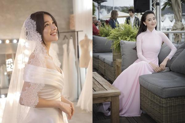 Đầu tư hẳn 3 chiếc váy cưới nhưng áo dài ăn hỏi của Nhã Phương chỉ tối giản thế này