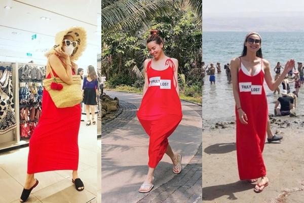 """Đã tìm ra """"chiếc váy quốc dân"""" để các mỹ nhân Việt thi nhau pose dáng """"quái dị"""""""