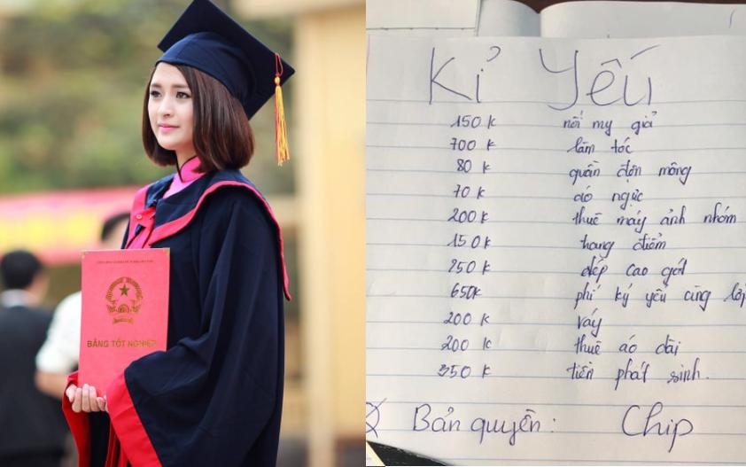 Bản kê khai chi phí chụp ảnh kỷ yếu lên tới 3 triệu đồng của nữ sinh Hà Nội gây tranh cãi cộng đồng mạng