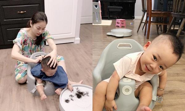 Con trai Bella tăng cân vù vù sau 1 tháng tách mẹ, được đích thân hotmom Hằng túi cắt tóc cực ngầu