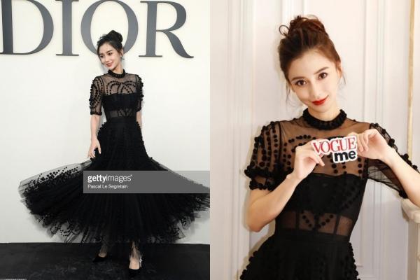 """Bấn loạn trước nhan sắc """"bất chấp"""" mọi góc chụp của Angela Baby trong show diễn thời trang Xuân/Hè của Dior"""