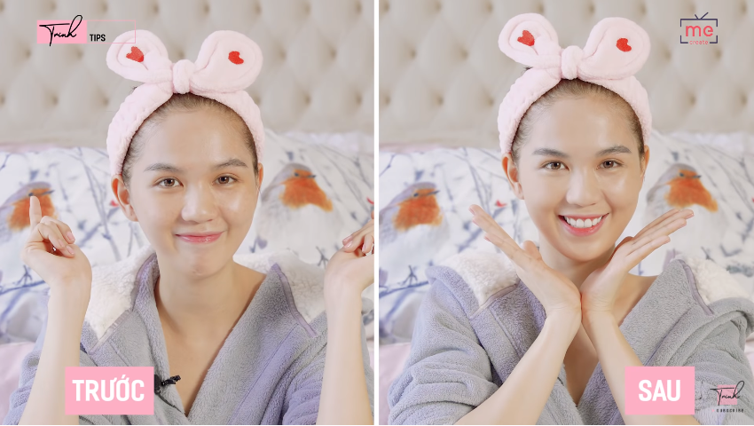 """Chia sẻ bí kíp make-up, đến lượt Ngọc Trinh bị fans """"kêu trời"""" vì mặt nhìn trước sau vẫn """"như một"""""""