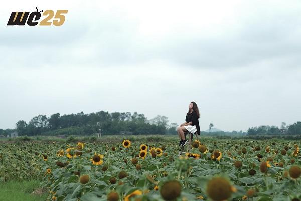Cảnh đẹp, hoa xinh, background cực chất - chừng đó đã đủ hấp dẫn bạn tới cánh đồng hoa hướng dương khổng lồ này chưa?