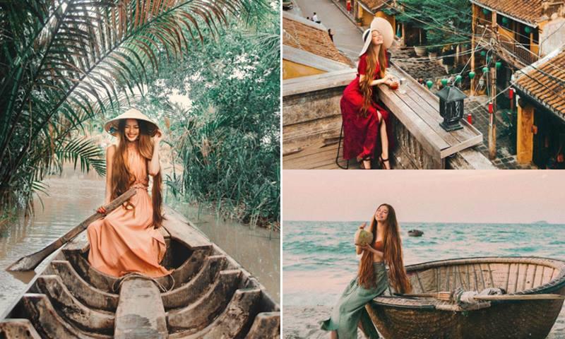 """Cả thế giới bỗng chốc """"đổ nghiêng"""" vì một Việt Nam quá đẹp trong chuyến phiêu lưu của """"nàng Công chúa tóc mây"""" gốc Việt"""