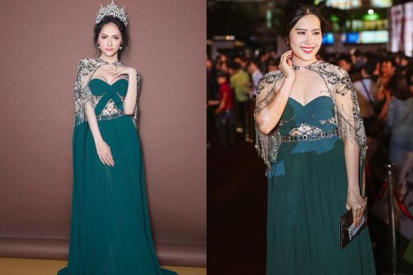 """Chuyện bi hài nhất thảm đỏ HHVN: """"1 chiếc váy 2 số phận"""" giữa Nam Em và Hương Giang"""
