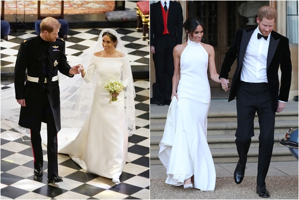 """Tiết lộ mức tiền """"khủng"""" mà Hoàng gia Anh chi trả cho 2 mẫu váy cưới của Tân công nương người Mỹ gốc Phi"""