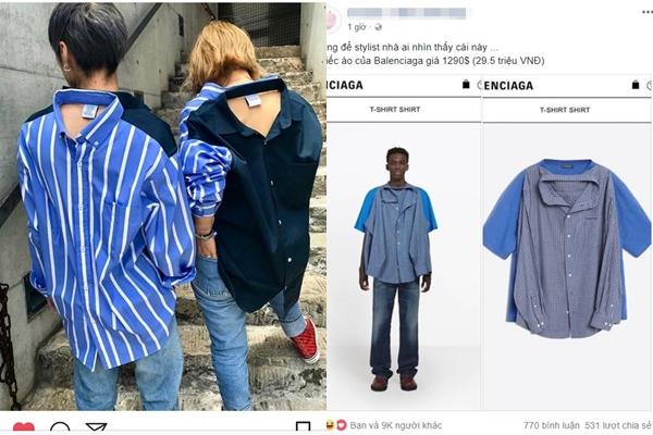 """Chiếc áo 29 triệu đồng của Balenciaga lại gây """"nhức nhối"""" cho CĐM vì không hiểu là đang mặc cái dạng gì lên người"""