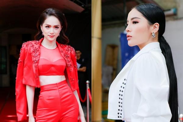 """Cùng """"cầm trịch"""" Siêu mẫu Việt Nam 2018, Hương Giang - Kỳ Duyên đã có màn """"chặt chém"""" trang phục gay gắt ngay trên thảm đỏ"""