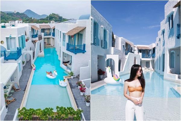 """""""Nức lòng"""" trước bể bơi tràn thành phố y hệt Santorini cách Sài Gòn chưa tới 2 tiếng bay"""