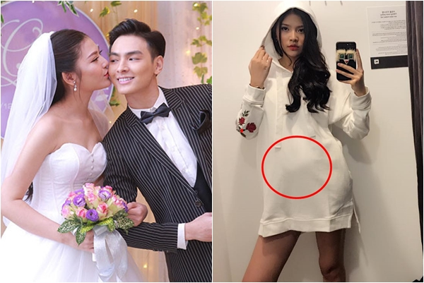 Cố tình diện đồ oversized che giấu, Chúng Huyền Thanh vẫn lộ bụng bầu to vượt mặt dù mới cưới 1 tháng