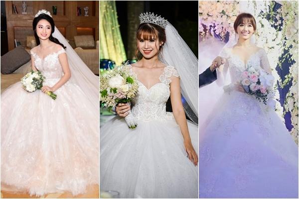 Sốc với mức giá quá chênh lệch của sao nữ Việt chi cho bộ váy cưới trong ngày trọng đại: Người bạc tỷ, kẻ vài đồng