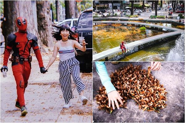 """Sài Gòn mùa """"chong chóng trái dầu"""" bay đẹp ngẩn ngơ, nguyên một con phố phủ vàng xuất sắc"""
