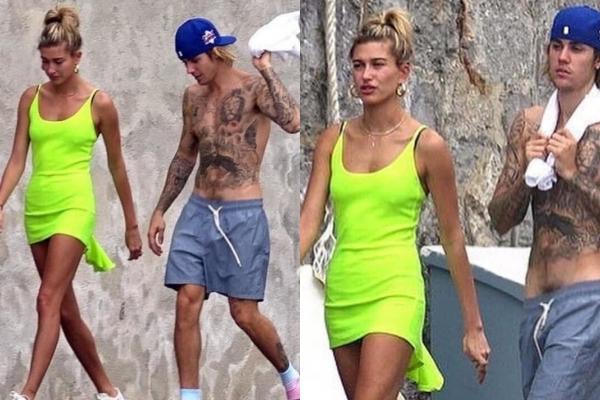 """Chỉ diện mỗi chiếc quần đùi nhưng vẫn phải nửa kín nửa hở, """"hoàng tử quần tụt"""" Justin Bieber lại khiến CĐM """"ngứa mắt"""""""