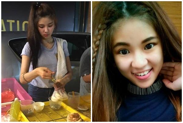 Chỉ từ một khoảnh khắc, cô gái bán bánh xinh đẹp nổi rầm rầm trên mạng xã hội