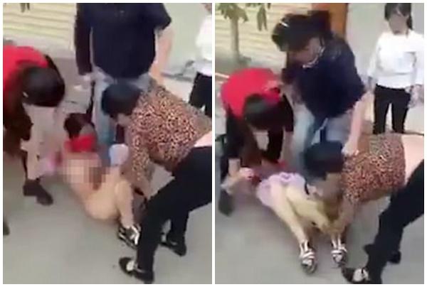 Kết quả hình ảnh cho Một phụ nữ đang mang thai bị đánh ghen dã man, giẫm thẳng giày cao gót vào bụng